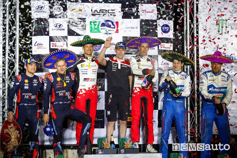 podio Rally del Messico WRC 2020