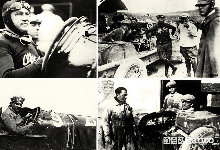 Giuseppe Campari, Antonio Ascari, Ugo Sivocci, Enzo Ferrari
