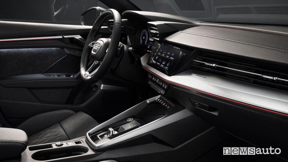 Consolle centrale, plancia strumenti abitacolo Audi A3 Sedan