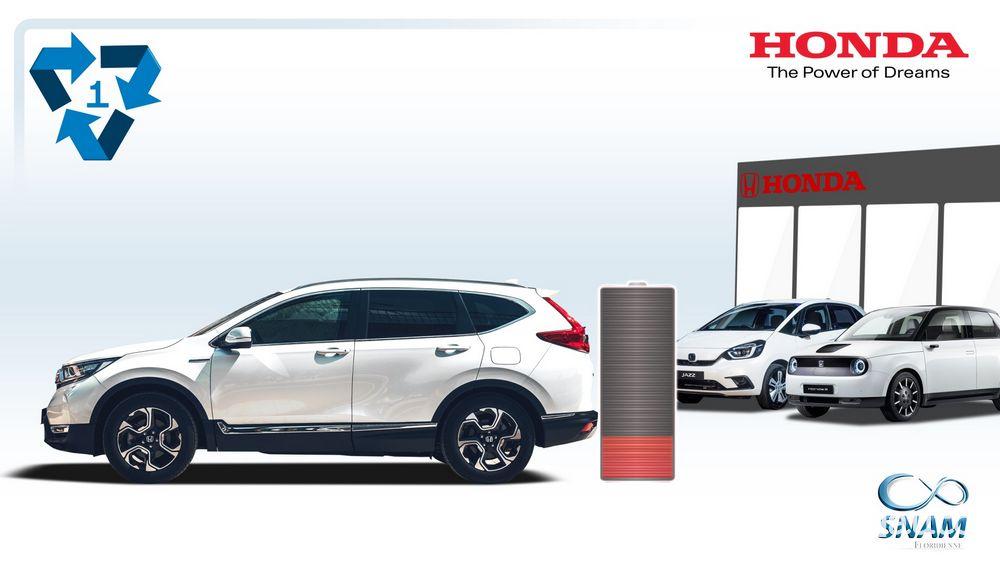 Le batterie al litio usate delle auto ibride ed elettriche Honda