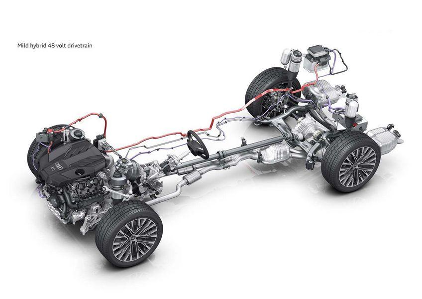 Sistema mild-hybrid di Audi a 48 V