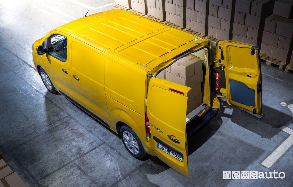 Apertura porte Opel Vivaro-e elettrico
