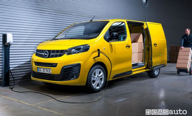 Ricarica da wallbox Opel Vivaro-e elettrico