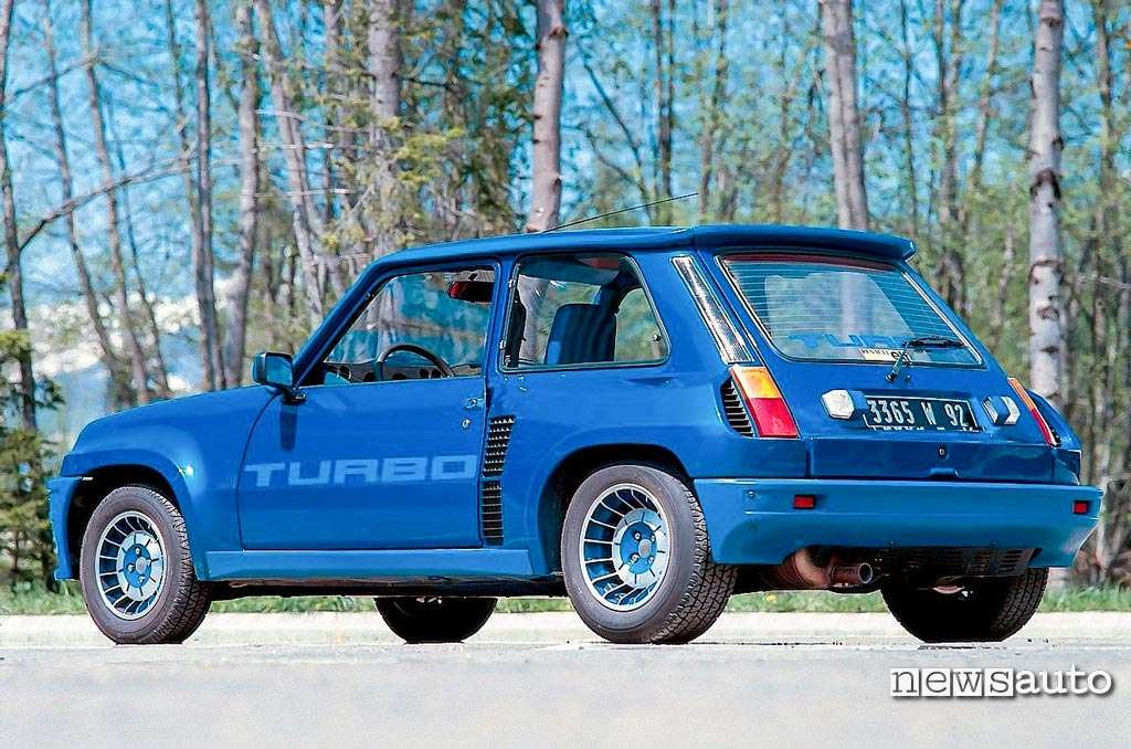 Renault 5 turbo 1980 blu vista posteriore