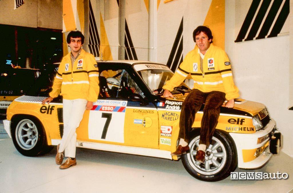 Renault 5 Turbo Tour de Corse con l'equipaggio Ragnotti Andriè