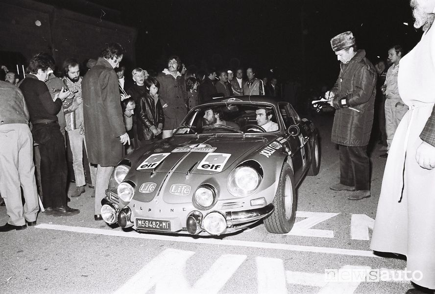 Alpine A110 rally al Rally 333 Minuti del 1971