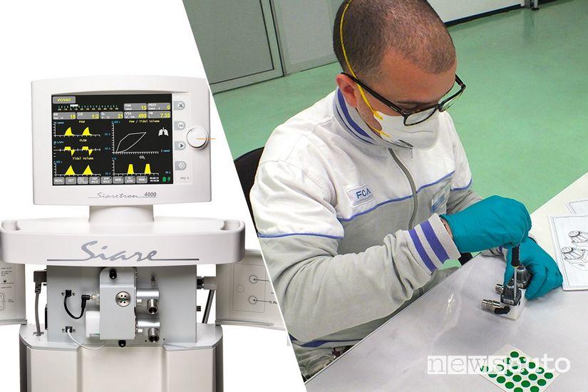 FCA e Ferrari aiutano la Siare nella produzione di ventilatori polmonari