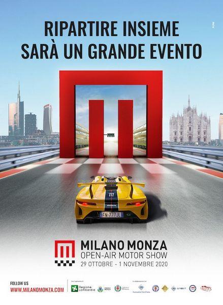 Locandina ufficiale Milano-Monza Open Air Motor Show 2020