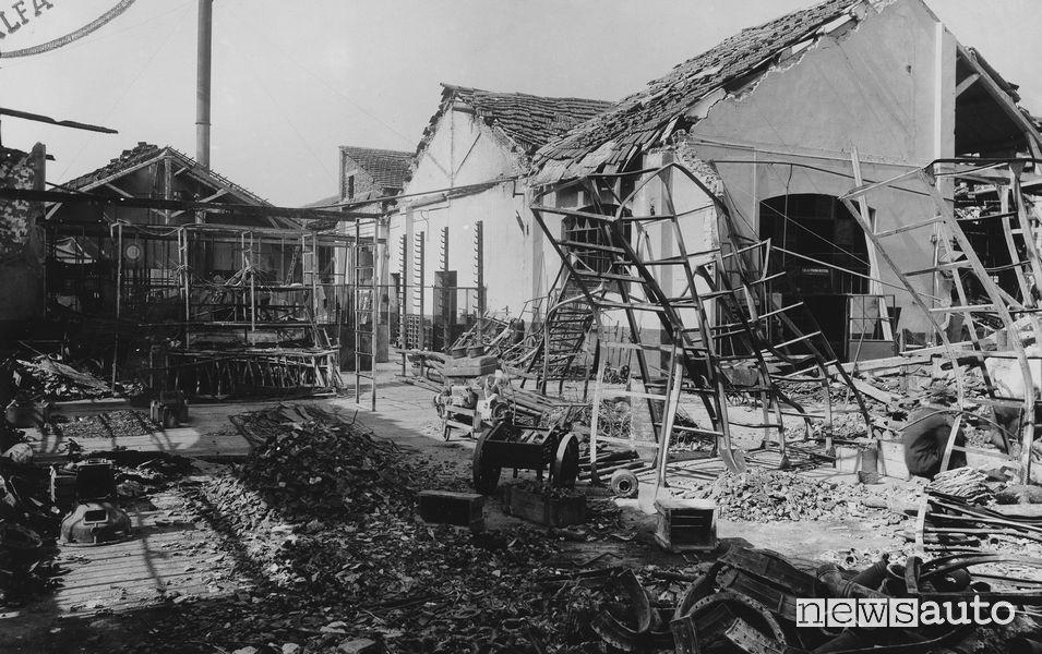 Storia Alfa Romeo bombardamenti al Portello nel 1944
