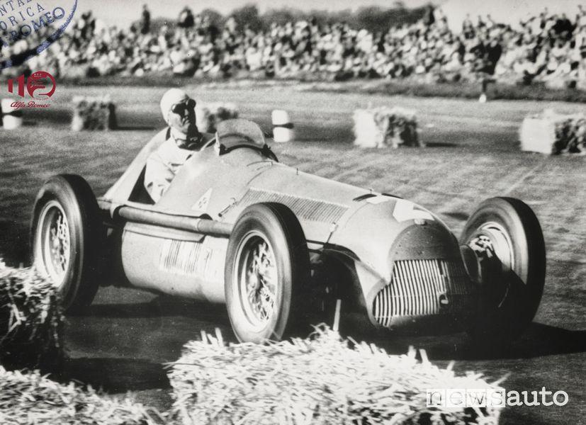 Storia Alfa Romeo Nino Farina vince il primo Gran Premio della Formula 1 con l'Alfetta 158 nel 1950