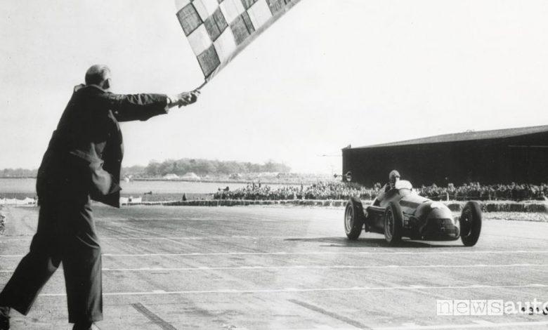 Nino Farina vince il primo Gran Premio della F1 con l'Alfetta 158 nel 1950
