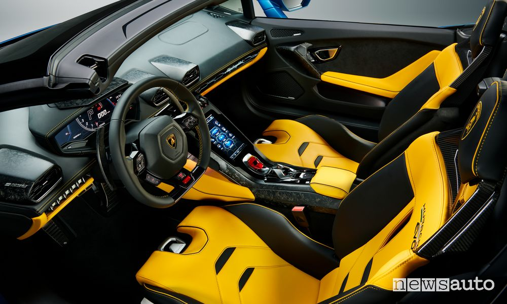 Abitacolo Lamborghini Huracán EVO RWD Spyder