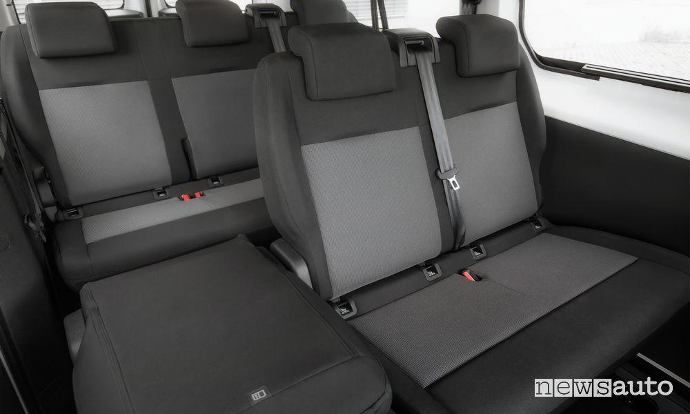 Sedili posteriori abitacolo Opel Vivaro Life Combi