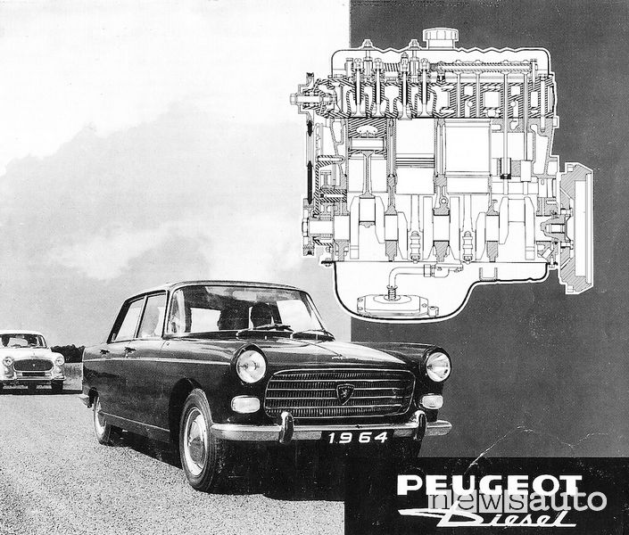 Peugeot 404 pubblicità versione diesel