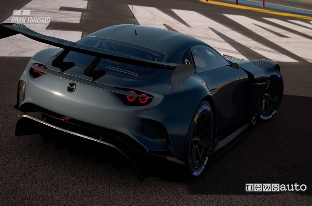 Vista posteriore RX-Vision GT3 Concept disponibile per Gran Turismo Sport su Playstation 4