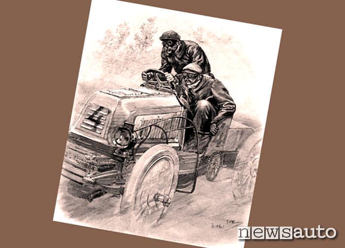 Sfide storiche tra trattori e carretti motorizzati destinati al trasporto di cose
