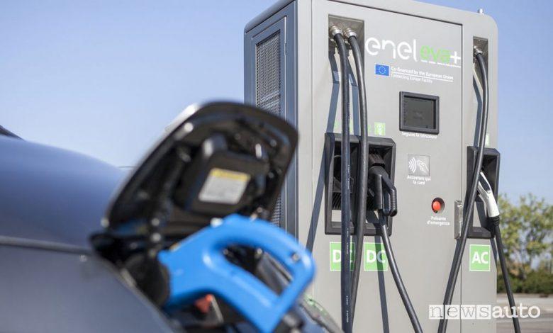 Tariffe Enel X ricarica delle auto elettriche