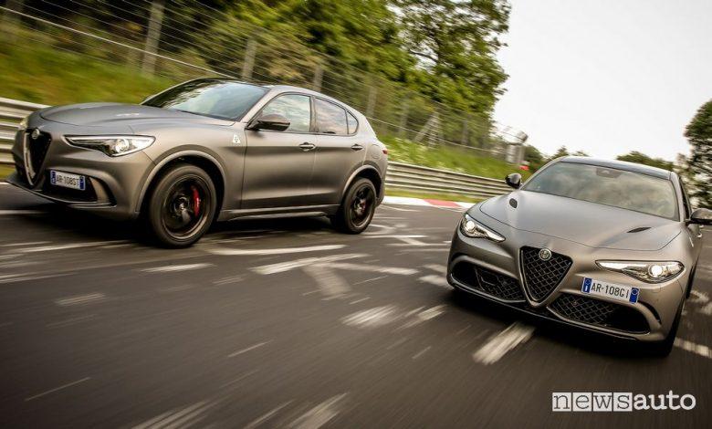 Alfa Romeo Giulia e Stelvio Quadrifoglio Nürburgring