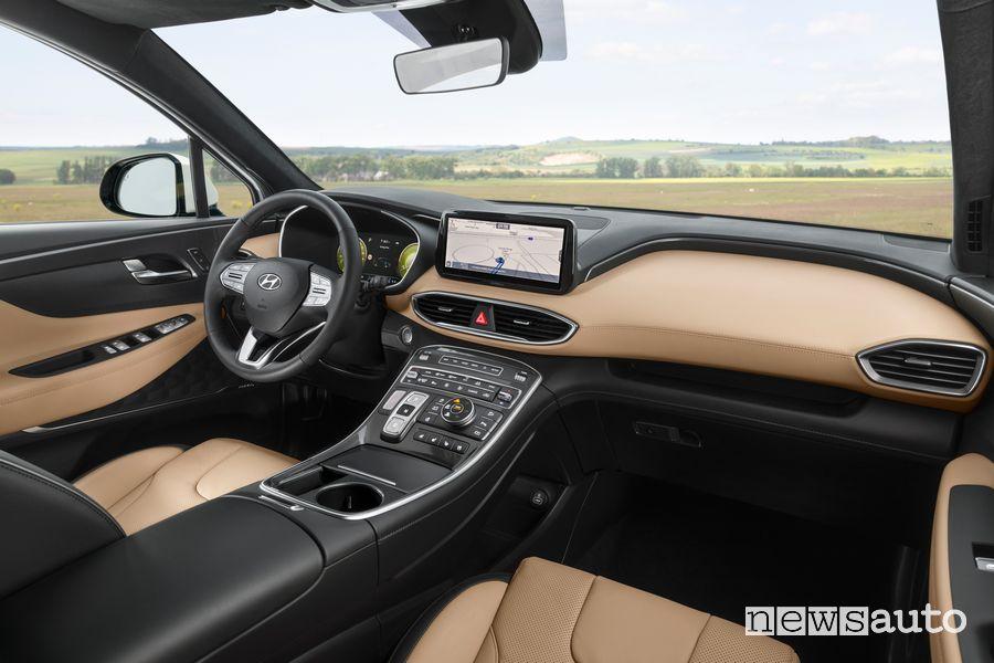 Navigatore touchscreen 10,25 pollici abitacolo Hyundai Santa Fe