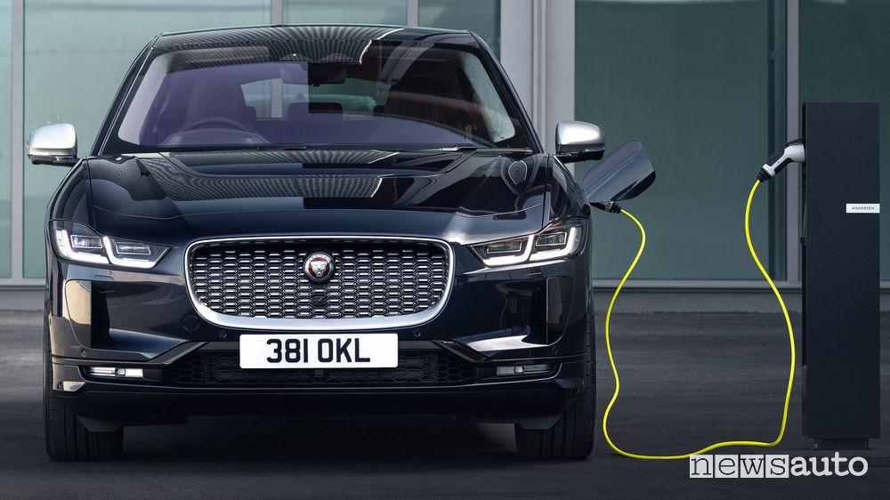 Ricarica da colonnina pubblica Jaguar I-Pace 2021
