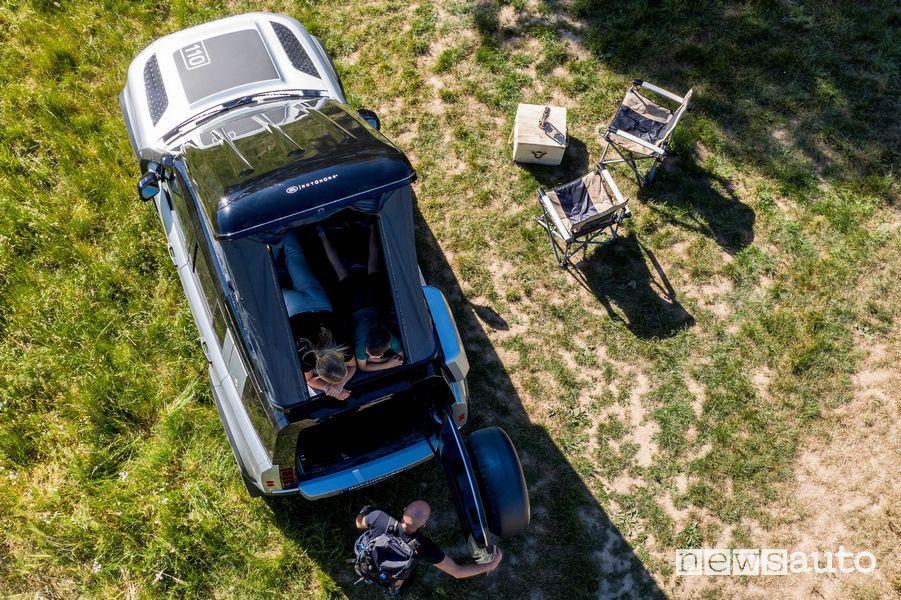 Tenda da tetto Autohome aperta Land Rover Defender 110