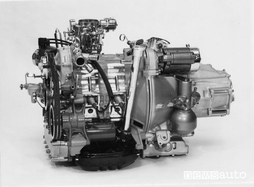 Motore e cambio della Citroën GS Birotor