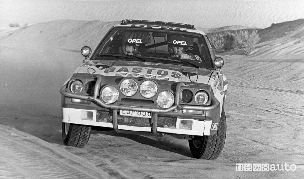 Opel Manta B 400 al Rally Parigi-Dakar del 1984