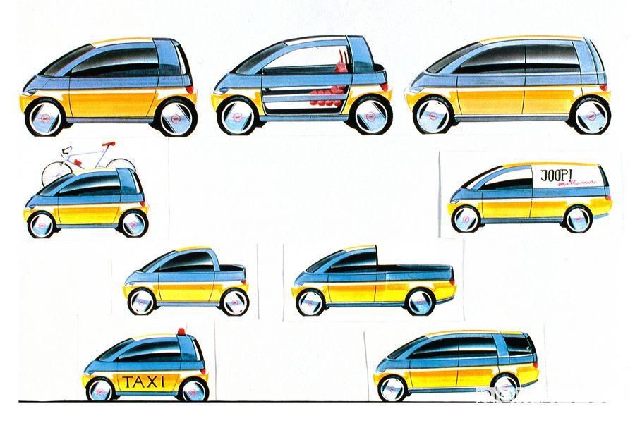 Esempi di modularità Opel Maxx, prototipo del 1995