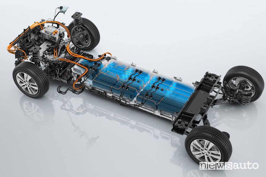 Pianale, batteria e motore elettrico Opel Zafira-e Life