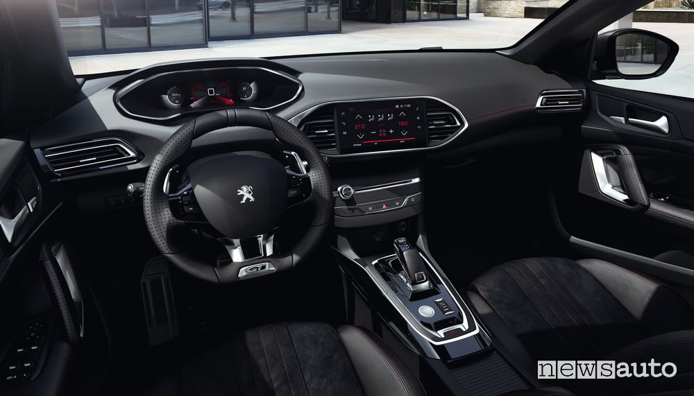 Plancia strumenti i-Cockpit abitacolo Peugeot 308