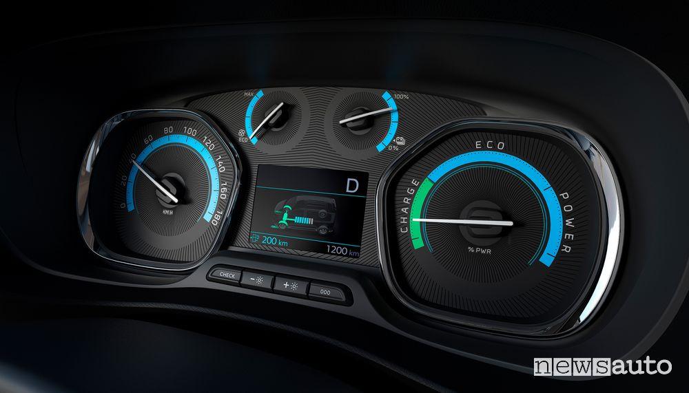 Quadro strumenti Peugeot e-Traveller elettrico