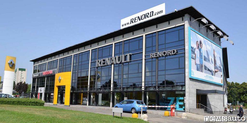 La sede della Renord concessionaria Renault, Nissan e Dacia con sei sedi tra Milano, Sesto San Giovanni e Monza.