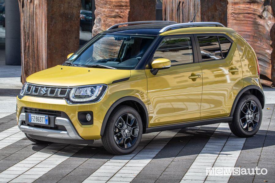 Vista di profilo Suzuki Ignis Hybrid 2020