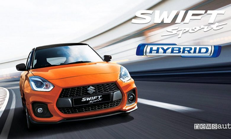 Suzuki Swift Sport Hybrid 2020 arancione Amsterdam vista anteriore