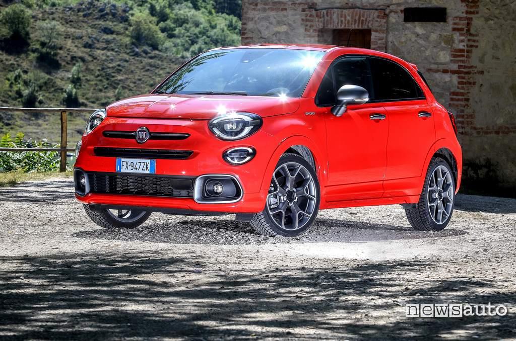 Frontale, fari a LED anteriori Fiat 500X Sport