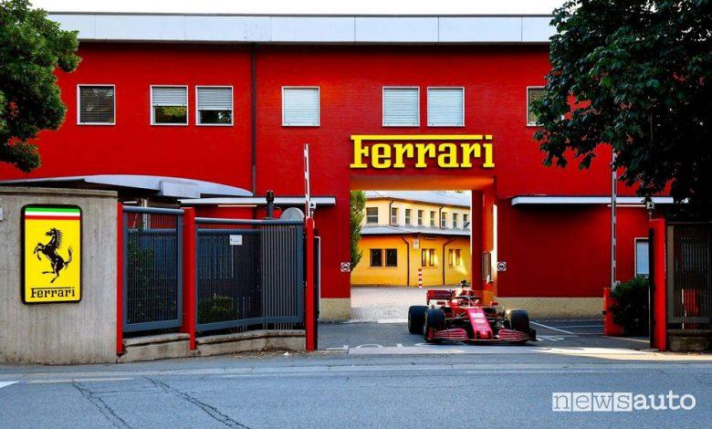 Leclerc a Maranello, in giro per la città con la Ferrari SF1000 F1