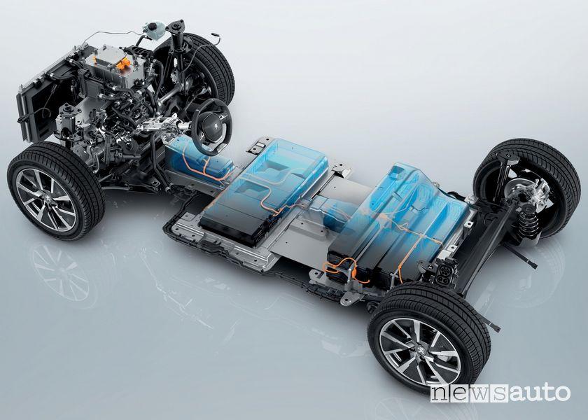 batterie Peugeot e-208 e e-2008 auto elettriche