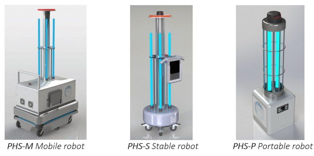 robot PHS per la sanificazione degli ambienti contro il Covid-19