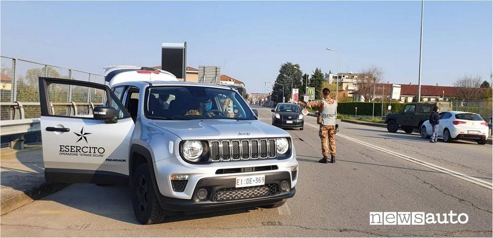 esercito militare italiano strade sicure novara jeep renegade