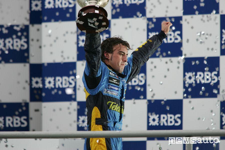 Fernando Alonso campione del mondo Renault