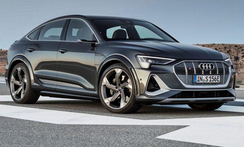 Vista laterale Audi e-tron S Sportback