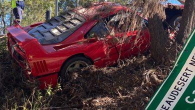 Photo of Incidente durante il test drive, Ferrari F40 distrutta