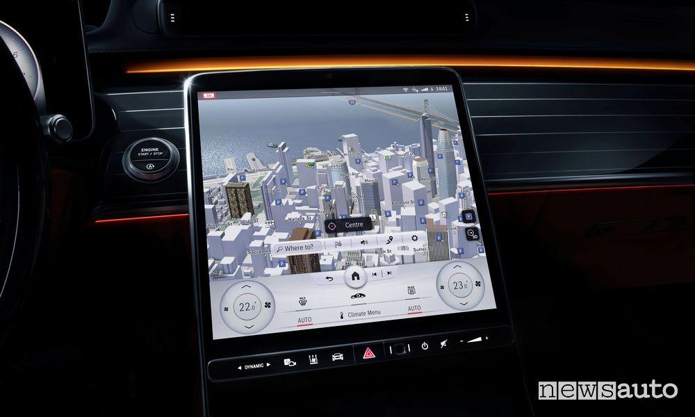 Mercedes-Benz MBUX con display 3D