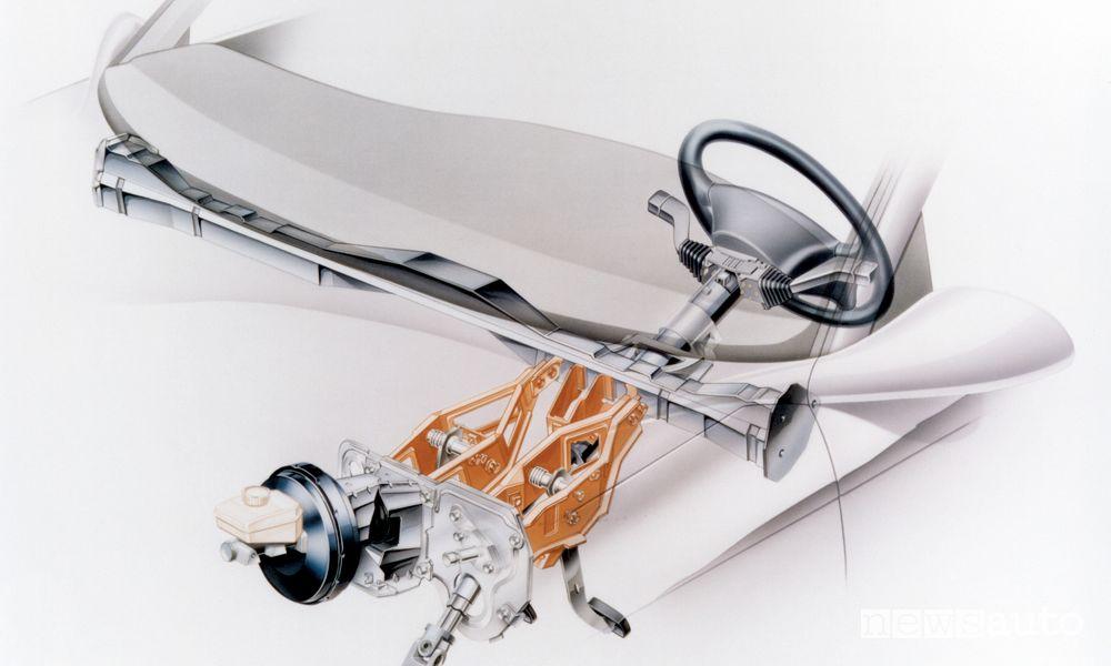 Pedaliera di sicurezza sganciabile Opel Vectra B