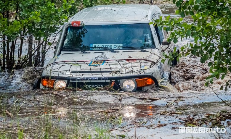 Gara estrema in fuoristrada, Rainforest in Ucraina