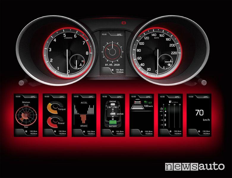 Info quadro strumenti Suzuki Swift Hybrid