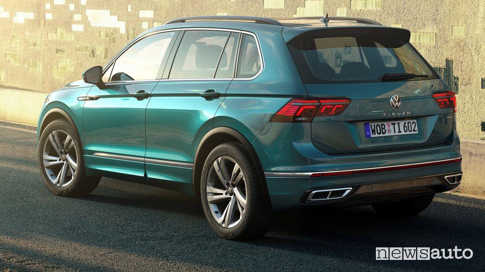 Vista posteriore Volkswagen Tiguan 2021 R Line