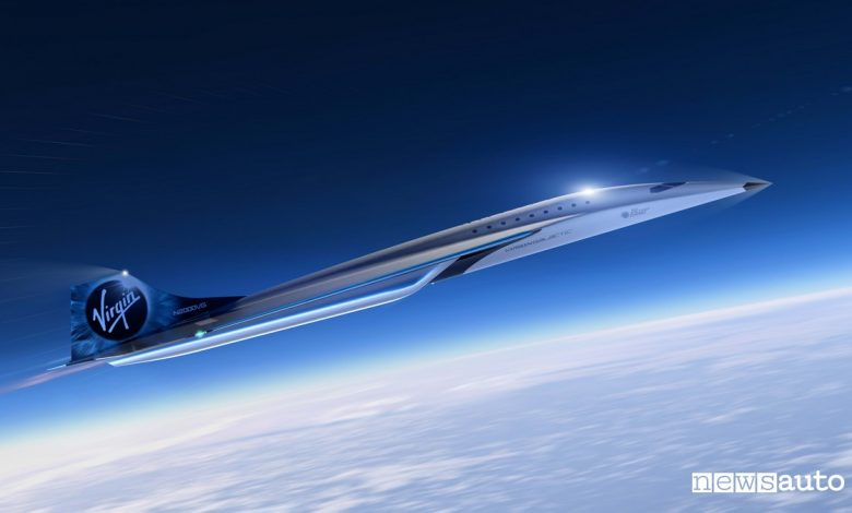 aereo più veloce al mondo jet supersonico virgin galactic
