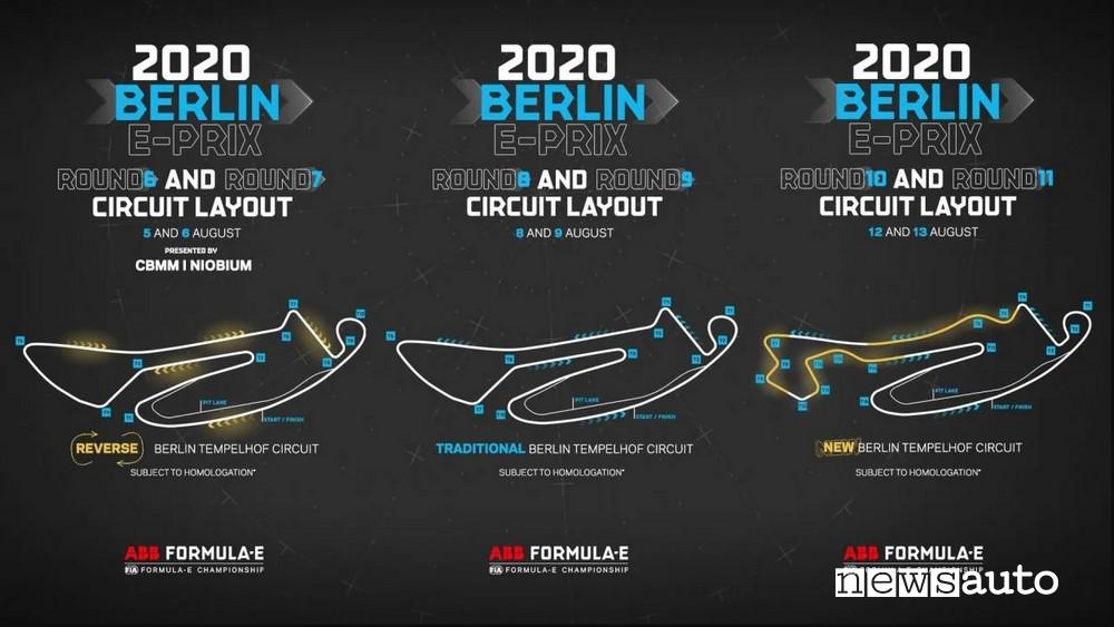 tracciato eprix berlino aeroporto tempelhof configurazioni del tracciato per le gare della Formula E