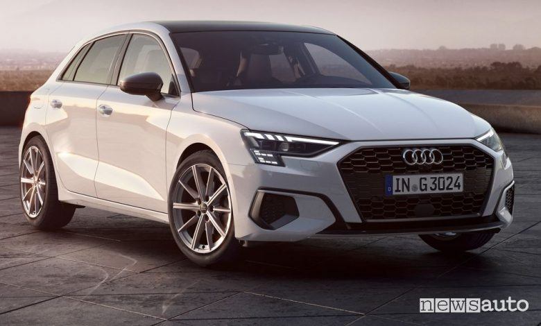 Audi A3 metano monovalente g-tron, caratteristiche